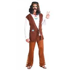 Hippie Flower Power Kostuum Man