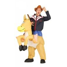 Opblaasbare cowboy paard