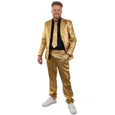 Gouden kostuum metallic 3-delig