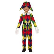 Kleurrijk Harlekijn kostuum jongen