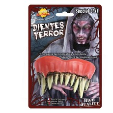 Monster tanden Halloween met kleefpasta