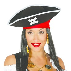 Piraat Hoed Vilt Doodskop Volwassen