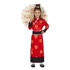 Oosterse Kimono Kostuum Meisje Rood