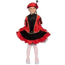 Pietenjurkje kind Rood/Zwart met petticoat