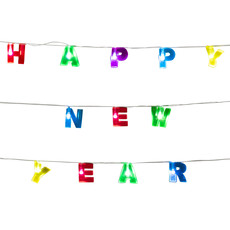 Led-lichtslinger 'Happy New Year' (1,6m)