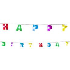 Led-lichtslinger 'Happy Birthday' (1,6m)