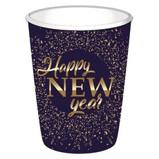 """Bekers """"Happy New Year"""" blue/gold (8st)"""