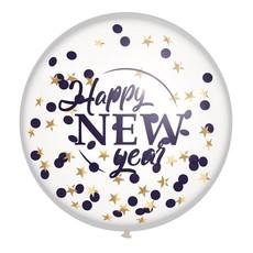 "Mega confettiballon ""Happy New Year"" 60cm"