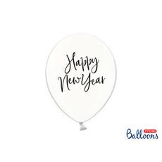 Happy New Year ballonnen Transparant (6st)