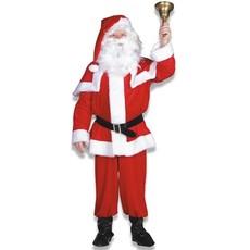 Kerstman kostuum imitatie fluweel elite