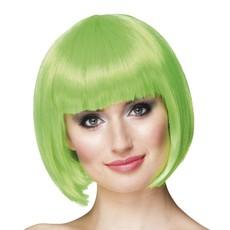Pruik bobline cabaret groen