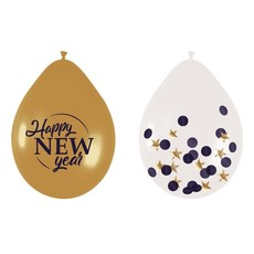 Happy New Year Glossy Ballonnen Mix (6st)