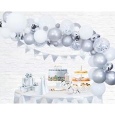 Luxe Ballon Decoratie Set Zilver