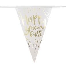 Folievlaggenlijn 'Happy New Year' (4m)
