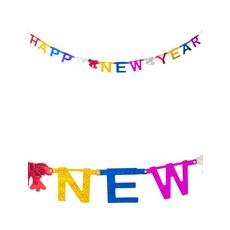 Gekleurde Letterslinger Happy New Year