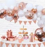 Luxe Ballon Decoratie Set Rosé Goud