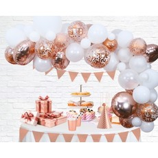 Luxe Ballon Decoratie Set Rosé Goud