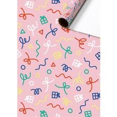 Rol Inpakpapier roze cadeautjes