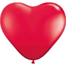 Hartvormige Ballonnen Rood 30cm (8st)