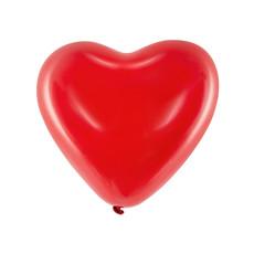 Pastel Ballonnen Hart Rood 40cm (6st)
