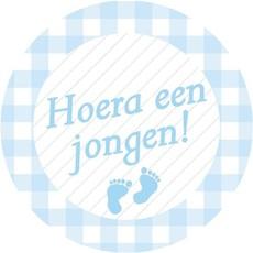 Stickers blauw ''Hoera een jongen''