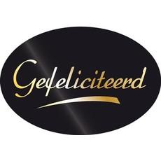 Stickers 'Gefeliciteerd' zwart/goud