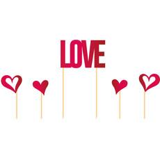 Taart Topper Love Hartjes