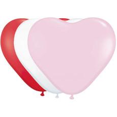 Hartvormige Ballonnen Gemengde Kleuren (8st)