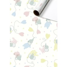 Rol inpakpapier Baby Olifantjes