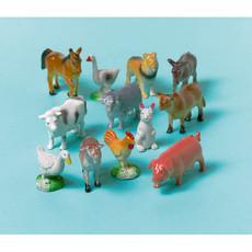 12 boerderij dieren speelgoed