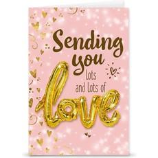 "Kaart ""Lots of love"" + Love ballon"