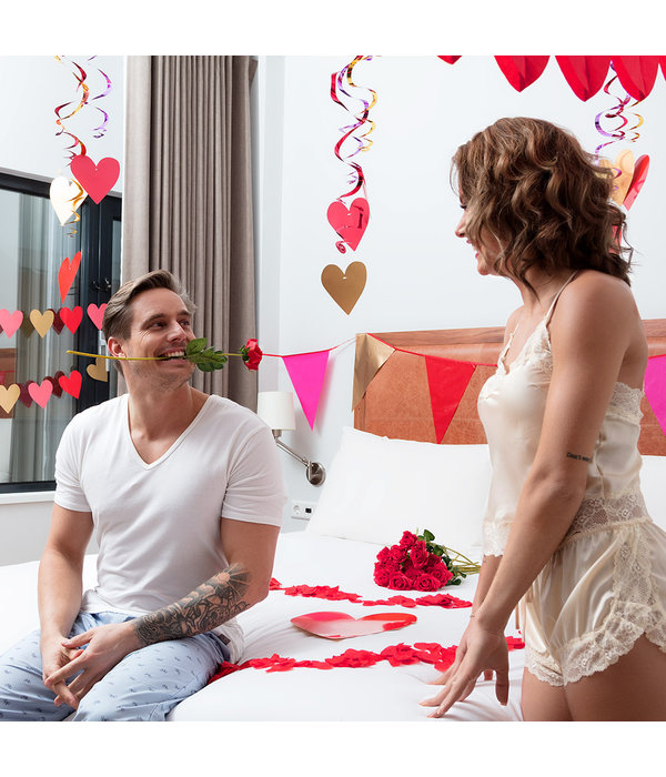 Rode Valentijns kunstroos (43cm)