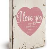 Houten Decoratiebord - I love you