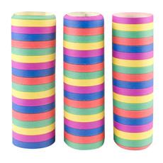 Set 3 Rollen papieren serpentines 5 kleuren