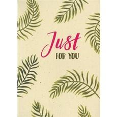 Valentijnskaart 'Just For You'