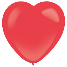 Hartjes ballonnen rood 30cm - 50 stuks