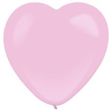 Licht roze hartjes ballonnen (30cm, 50 st)