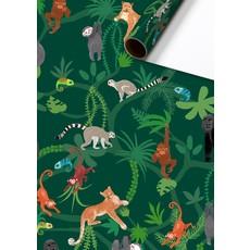 Rol Inpakpapier Jungle groen