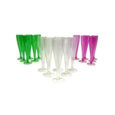 Plastic Champagneglazen (6st)