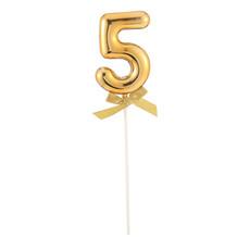 Taart Topper Cijfer 5 Goud