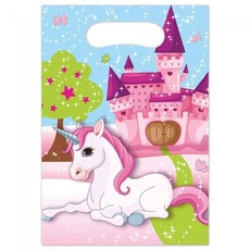 Unicorn Fantasy Uitdeelzakjes (6st)