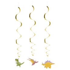 Hangdecoratie Swirls Dino Party (3st)