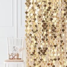 Decoratie Gordijn Gouden Hartjes