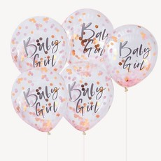 Confetti Ballonnen Baby Girl (5st)