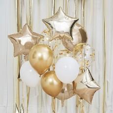Ballonnen Mix Metallic Goud (12st)