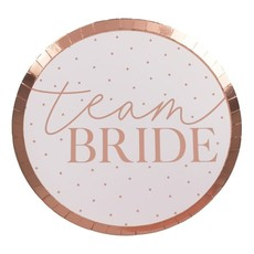 Feestborden Team Bride Rosegoud (8st)