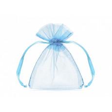 Organza zakjes lichtblauw 7,5x10cm (20st)