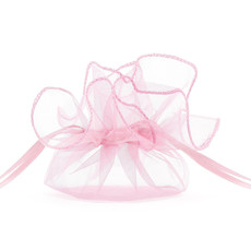 Organza zakjes roze 26cm (20st)