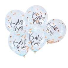 Confetti Ballonnen Baby Boy (5st)