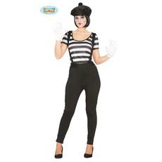 Mime Speler Kostuum Vrouw